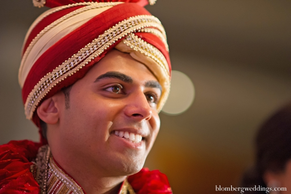 Indian wedding groom traditional dress in Dallas, Texas Indian Wedding by Greg Blomberg