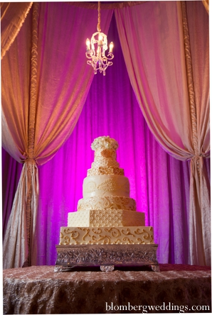 Indian wedding reception cake traditional in Dallas, Texas Indian Wedding by Greg Blomberg