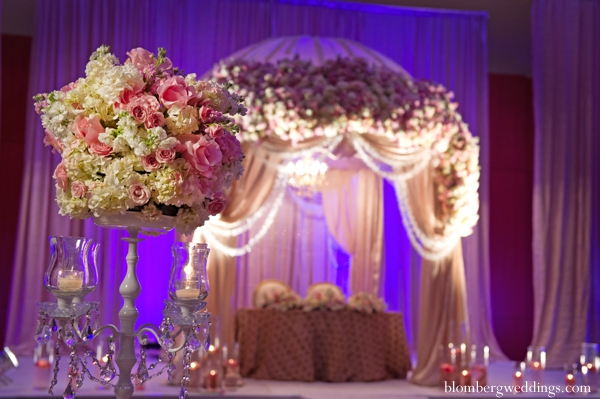 Indian wedding reception sweetheart table inspiration in Dallas, Texas Indian Wedding by Greg Blomberg
