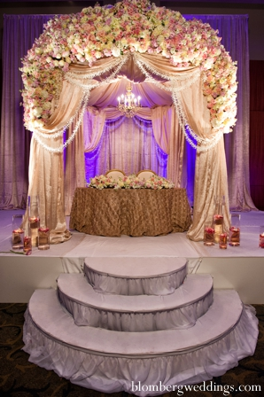 Indian wedding reception sweetheart table in Dallas, Texas Indian Wedding by Greg Blomberg