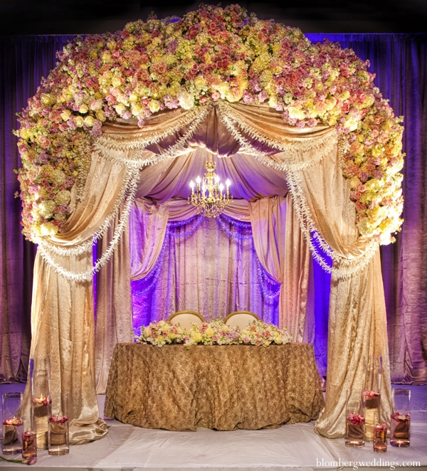 Indian wedding reception table sweethearts in Dallas, Texas Indian Wedding by Greg Blomberg
