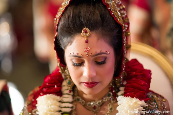 Indian wedding traditional ceremony bride in Dallas, Texas Indian Wedding by Greg Blomberg