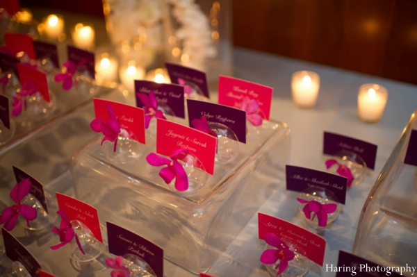Indian wedding reception name card seating in Fort Lauderdale, Florida Indian Wedding by Haring Photography