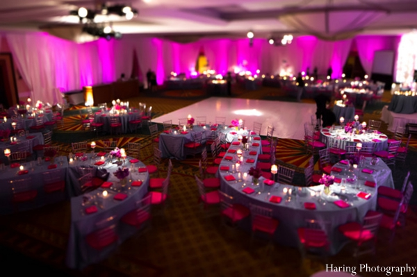 indian wedding reception table setting venue lighting