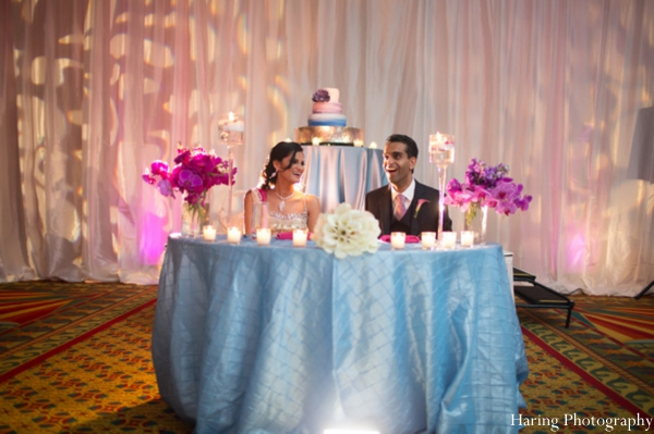 Delicieux Indian Wedding Reception Table Setting Venue Lighting In Fort. Wedding Table  Bride And Groom ...
