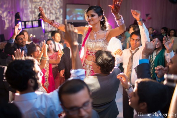 Indian wedding reception dancing dance floor in Fort Lauderdale, Florida Indian Wedding by Haring Photography