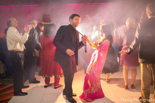 Indian wedding bride groom dancing reception in Fort Lauderdale, Florida Indian Wedding by Haring Photography