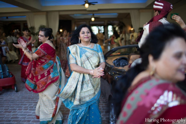 Indian wedding baraat dancing in Fort Lauderdale, Florida Indian Wedding by Haring Photography