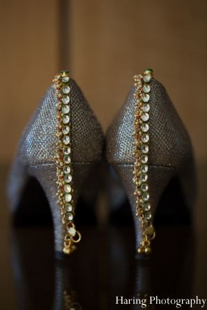 Indian wedding bridal shoes jewelry gold in Fort Lauderdale, Florida Indian Wedding by Haring Photography