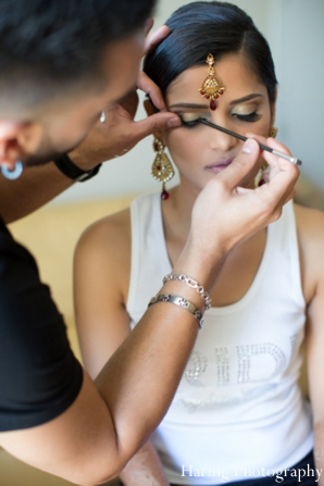 Indian wedding bridal tikka hair makeup in Fort Lauderdale, Florida Indian Wedding by Haring Photography