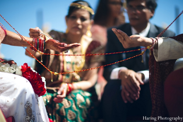 Indian wedding ceremony mandap outdoors in Fort Lauderdale, Florida Indian Wedding by Haring Photography