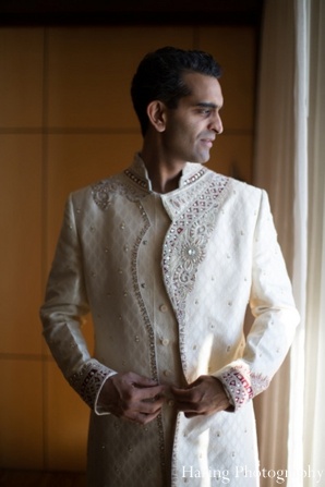 Indian wedding groom sherwani traditional in Fort Lauderdale, Florida Indian Wedding by Haring Photography
