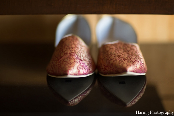 Indian wedding groom traditional shoes in Fort Lauderdale, Florida Indian Wedding by Haring Photography