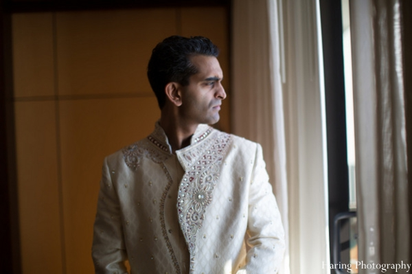 Indian wedding groom traditional dress sherwani in Fort Lauderdale, Florida Indian Wedding by Haring Photography