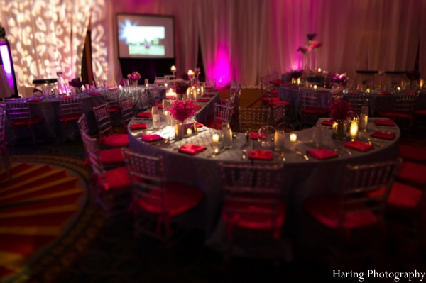 Indian wedding lighting reception ballroom in Fort Lauderdale, Florida Indian Wedding by Haring Photography