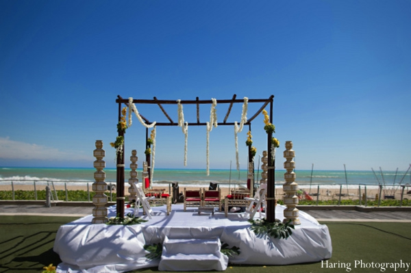 Indian wedding mandap outdoors inspiration in Fort Lauderdale, Florida Indian Wedding by Haring Photography