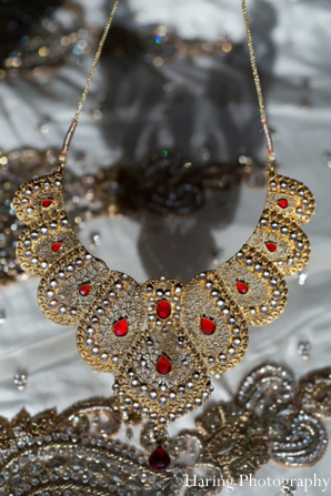 Indian wedding necklace gold traditional in Fort Lauderdale, Florida Indian Wedding by Haring Photography