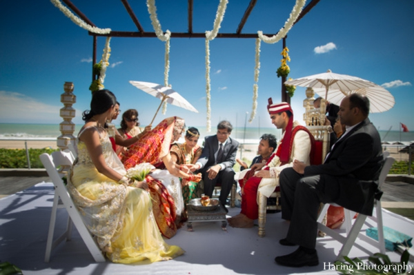 Indian wedding outdoor ceremony mandap in Fort Lauderdale, Florida Indian Wedding by Haring Photography