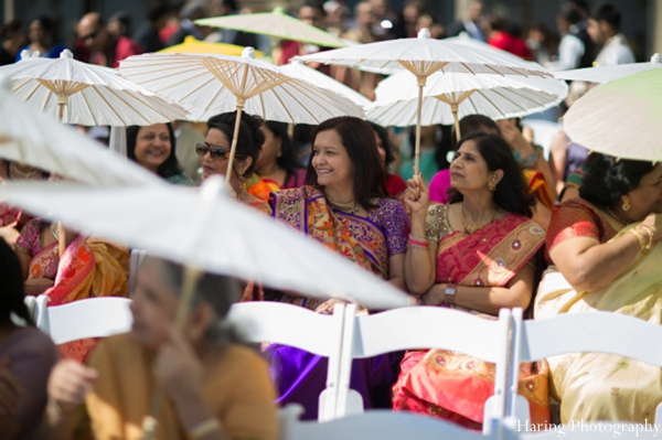 Indian wedding outdoor ceremony parasols in Fort Lauderdale, Florida Indian Wedding by Haring Photography