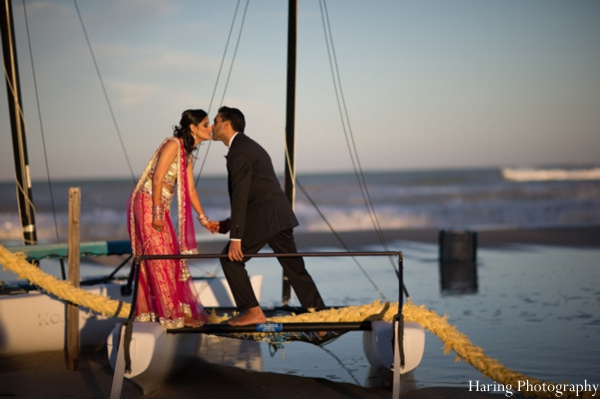 Indian wedding portrait bride groom in Fort Lauderdale, Florida Indian Wedding by Haring Photography
