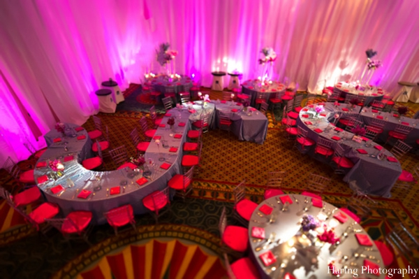 hot pink,indian wedding floral and decor,indian wedding lighting,table-setting,indian wedding reception,reception table setting,indian wedding venue,indian wedding reception lighting,haring photography