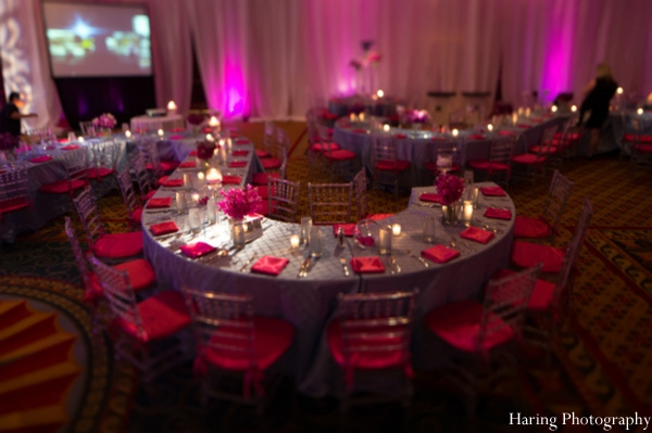 Indian wedding table setting lighting venue in Fort Lauderdale, Florida Indian Wedding by Haring Photography
