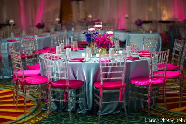 Indian wedding table setting reception venue in Fort Lauderdale, Florida Indian Wedding by Haring Photography