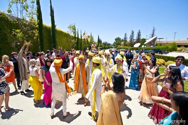 Indian wedding baraat celebration