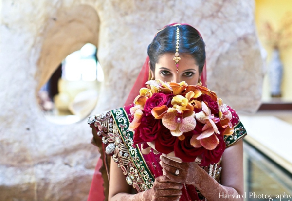 Indian wedding bridal bouquet colorful floral