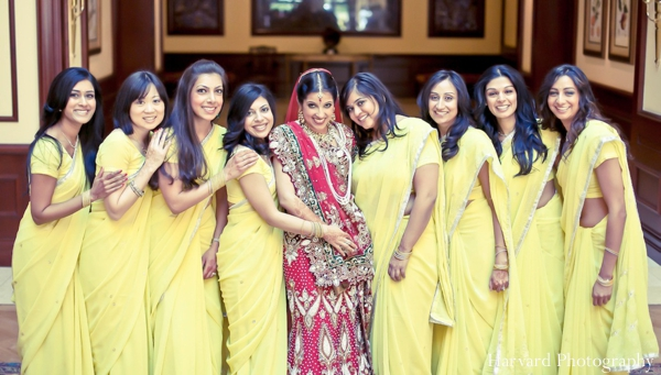 Indian wedding bride and bridal party