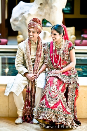 Indian wedding bride and groom portrait
