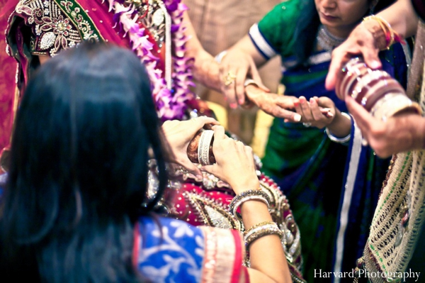 Indian wedding bride getting ready traditional