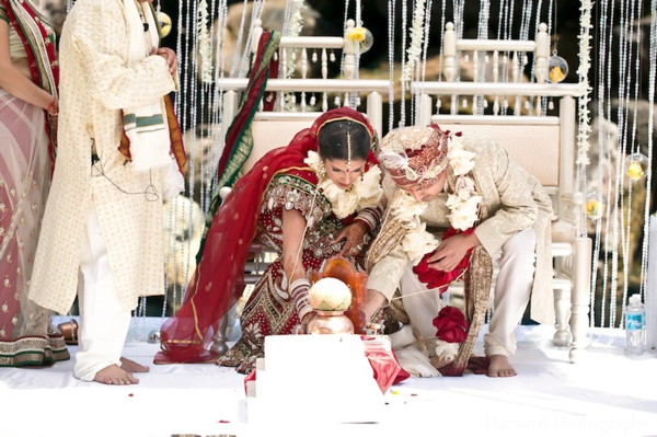 Indian wedding bride groom traditional customs
