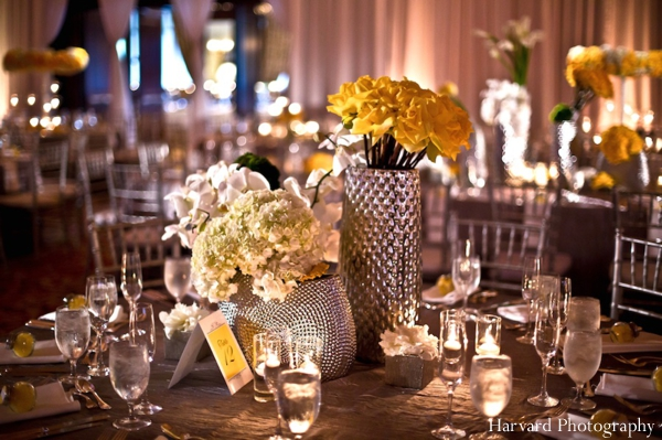 Indian wedding centerpiece decor table setting