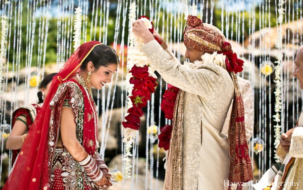 Indian wedding ceremony jai mala traditional