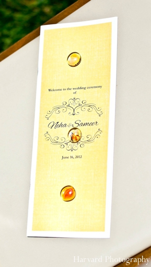 Indian wedding ceremony program stationary graphic design