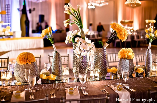 Indian wedding floral ideas table settings