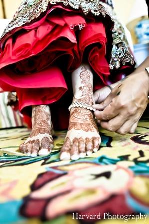 Indian wedding henna feet