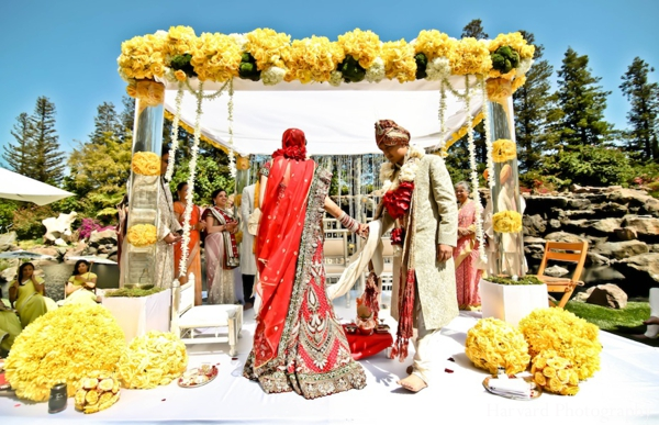 Indian wedding outdoors ceremony mandap