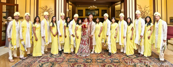 Indian wedding party portrait colorful