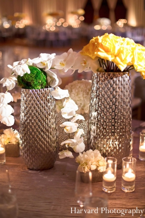 Indian wedding reception candle lighting floral