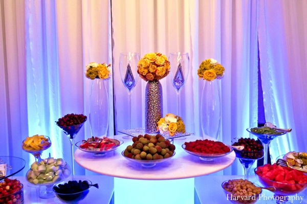 Indian wedding reception colorful food ideas