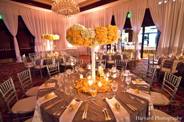 Indian wedding reception table setting