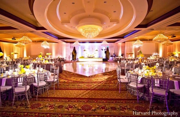 Indian Wedding Reception Venue Table Setting