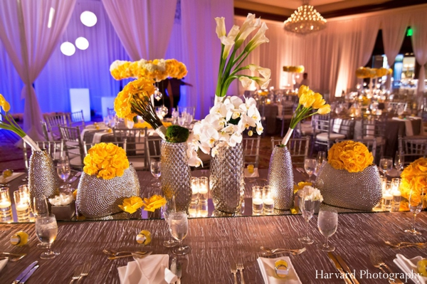 Indian wedding table setting decor floral
