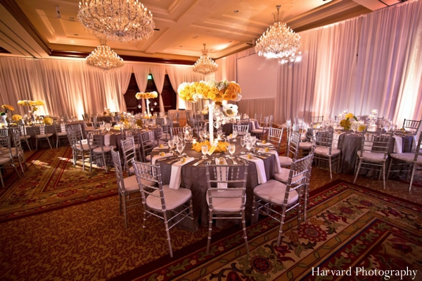 Indian wedding table setting floral decor