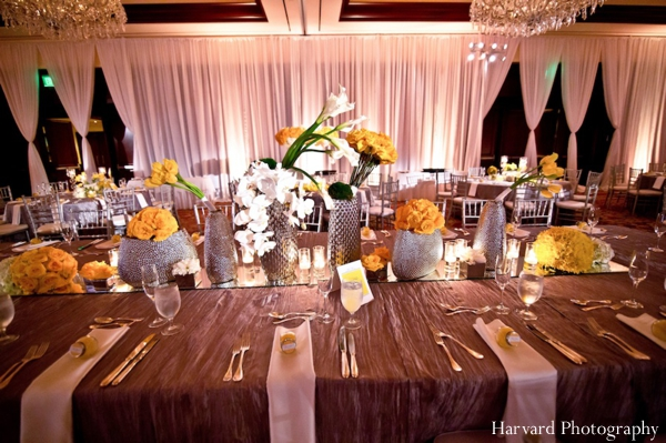 Indian wedding table setting reception ideas