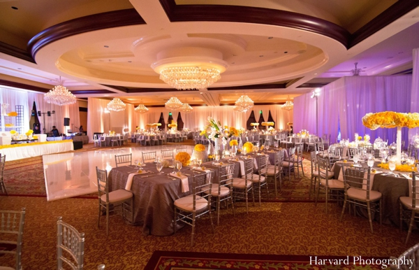 Indian wedding table setting reception venue