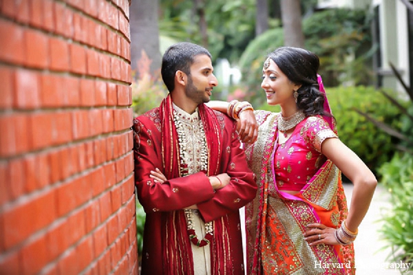 Indian portraits wedding bride groom in Santa Monica, California Indian Wedding by Harvard Photography