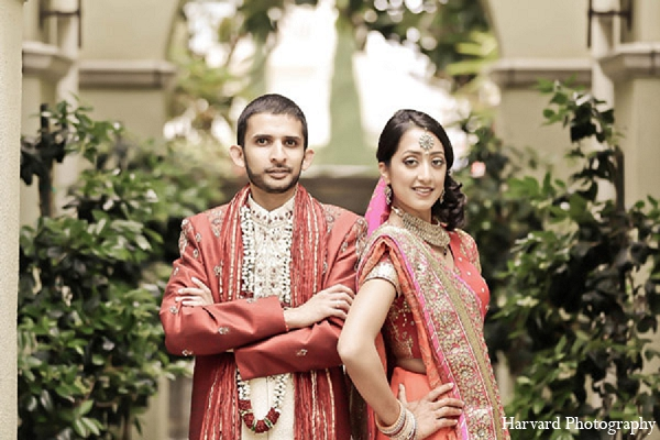 Indian portraits wedding groom bride in Santa Monica, California Indian Wedding by Harvard Photography